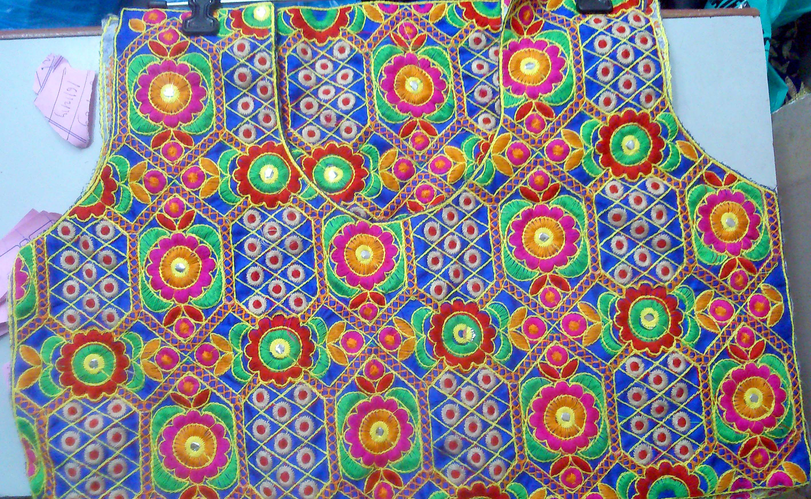 Embroidery blouse patches