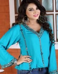 Rayon Short beading Dress for girls
