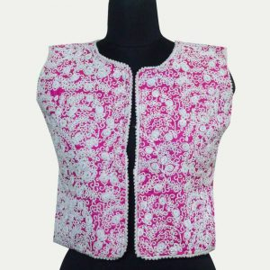 Sleeveless Codding Embroidery Short Jacket