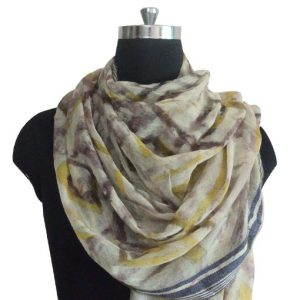 Pure wool Digital Geometrical Printed Scarf