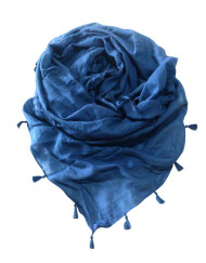 Plain Dyed Cotton Scarf with tussle