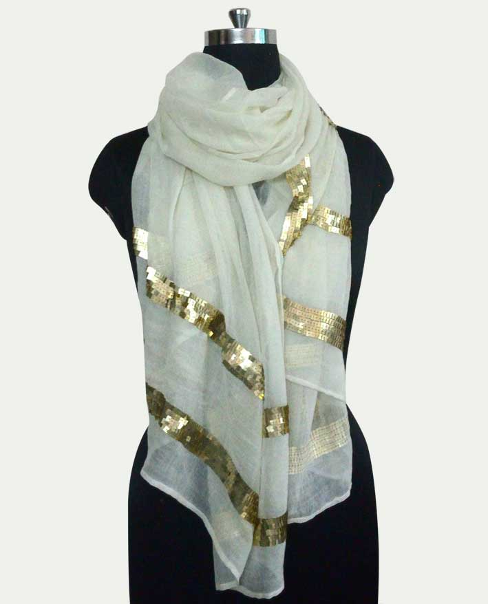 Pure Wool Beading Scarf