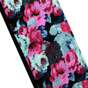 Cotton Flower Printed Scarf with tussle