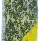 Pure Cotton Printed Scarf with lace