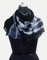 Pure Viscous Tie Dye Georgette Scarf