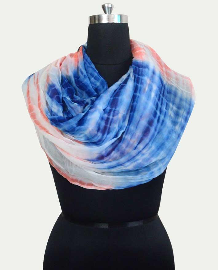 Pure Chiffon Tie Dye Woman`s Scarf