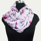 Pure Satin Crepe Tie Dye Scarf