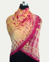 Pure Satin Scarf With beading