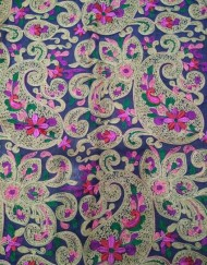 Multi color Chain stitch Paisley Embroidery Design