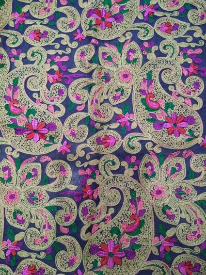 Multi color Chain stitch Paisley Embroidery Design
